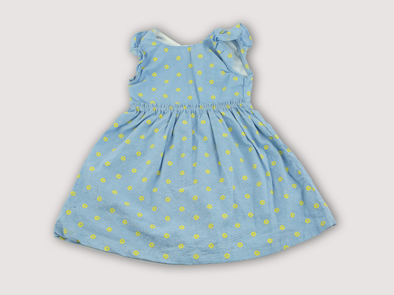 Small Flower Print Cotton Baby Frock DG-0037