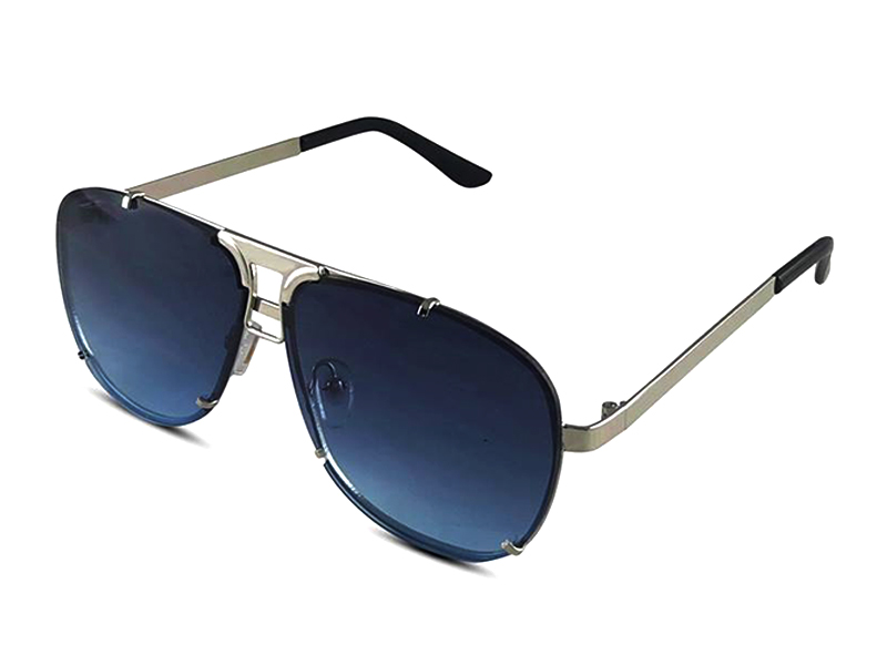 Blue Metal Sunglass For Men