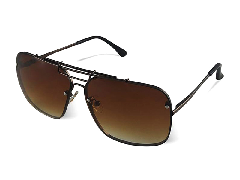 Brown Metal Stylish Sunglass For Men