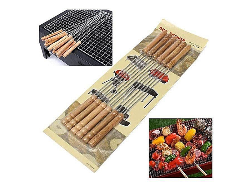 Master Kitchen 12 Pieces Barbecue Grill Sticks Set