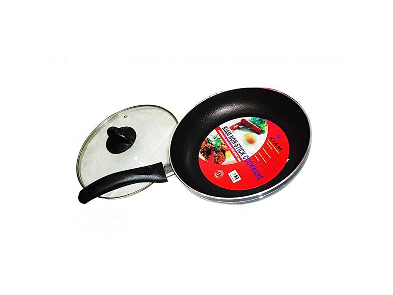 Kiam Non Stick Fry Pan 26 CM with Glass Lid - Black