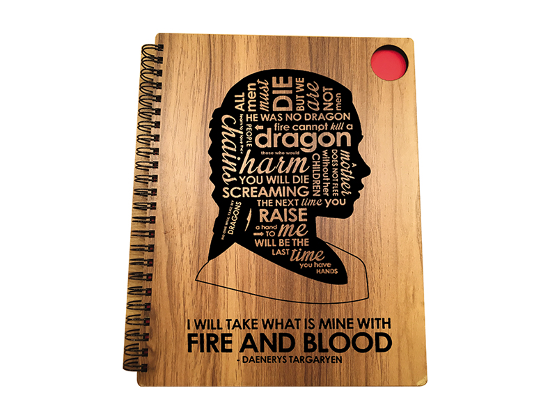 Woodpecker Notebook Fire and Blood