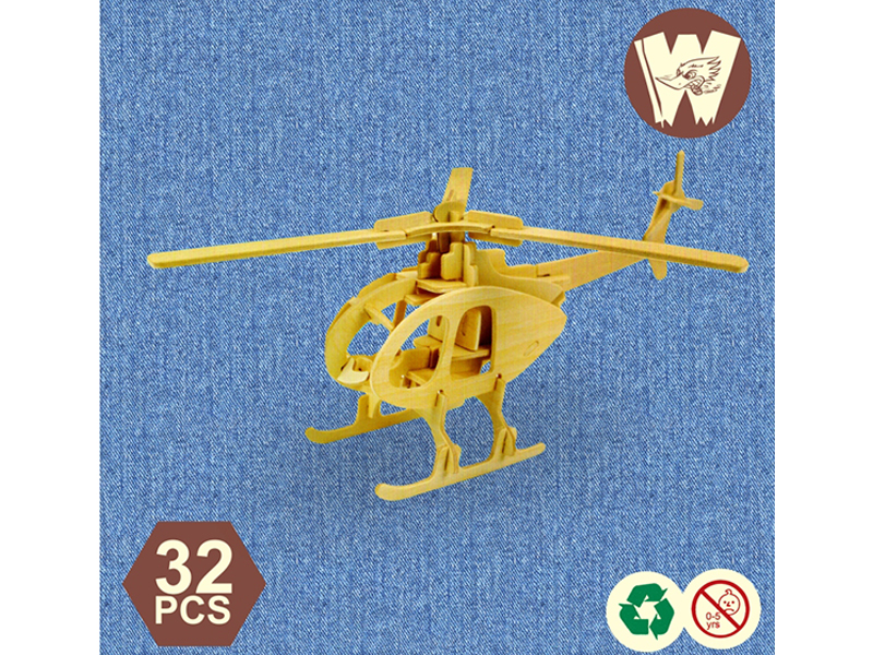 3D Wooden Puzzle- Helicopter