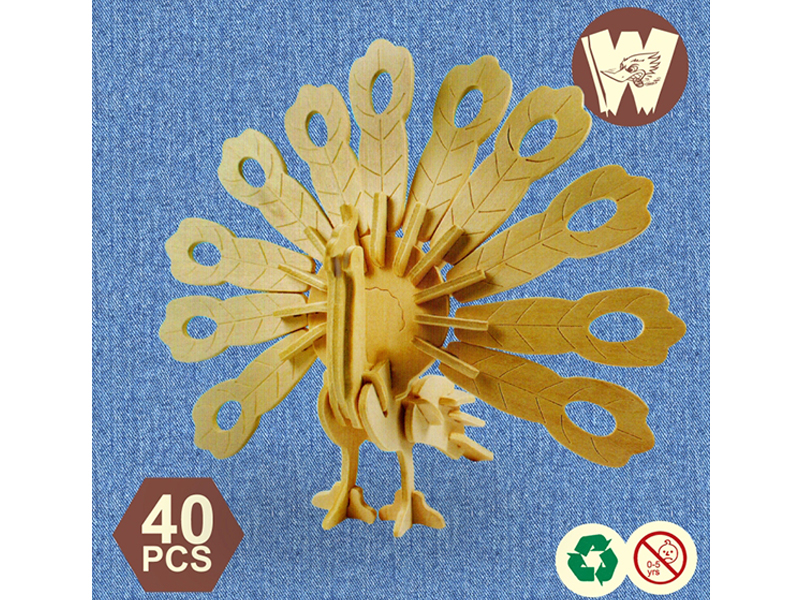 3D Wooden Puzzle- Peacock
