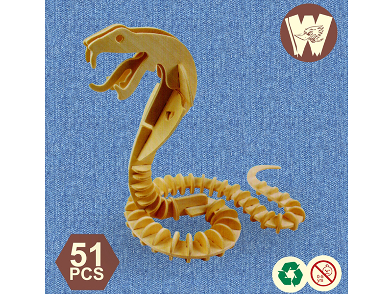 3D Wooden Puzzle- Snake