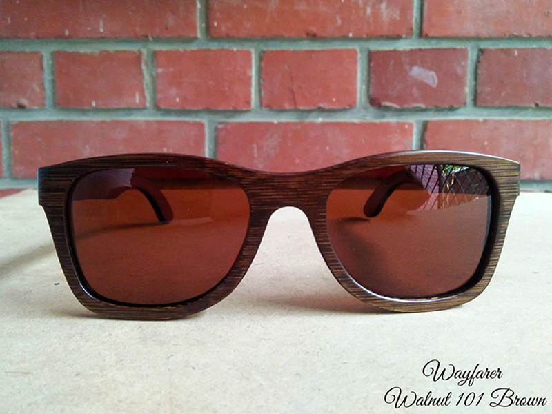 Handmade Wooden Sunglass Wayfarer Brown