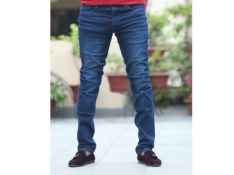 JACK & JONES-Men's Casual Deep Blue Jeans