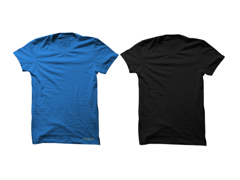 Raindrops Double Combo T-Shirt- Blue and Black
