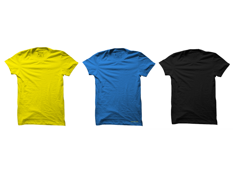 Raindrops Triple Combo T-Shirt- Yellow, Blue and Black