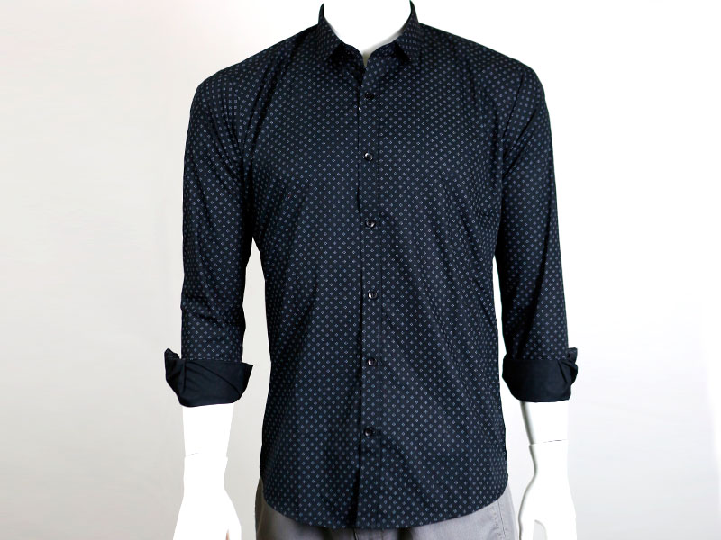 Sueno Black Buttoned Down Full Sleeve Shirt
