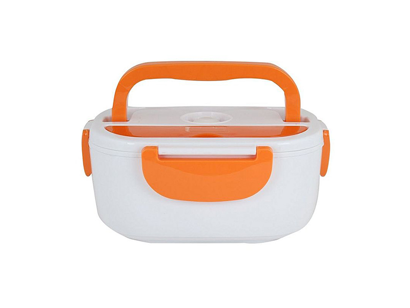 Electric Heating Lunch Box - White and Orange
