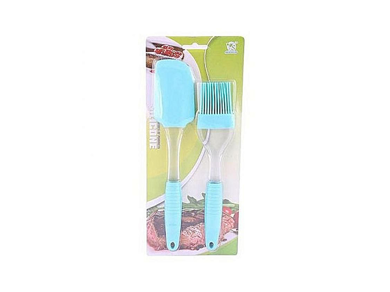 2 Pieces Silicone Oil Brush - Sky Blue