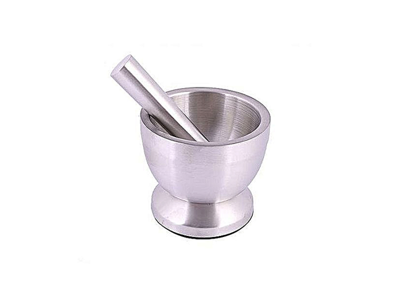 Stainless Steel Mortar and Pestle - Silver